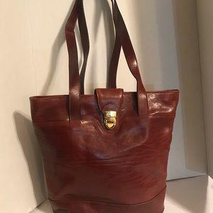 Croton Australia Brown Leather Handbag Large